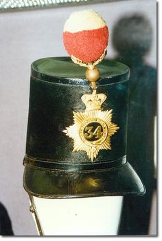 (Cumberland) Regiment of Foot the shako was at the front and at… British Army, Plain Black, Military History, Armed Forces, Badges, Soldiers, Third, Police, Helmet