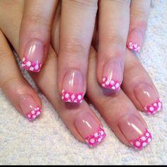 Polka Dot French manicure