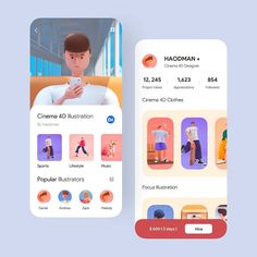 Great work awaits great patience and with this awesome illustration, this is app perfect Web Design, Website Design Layout, App Ui Design, Design Layouts, Website Designs, Web Layout, Flat Design, Game Interface, User Interface Design