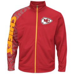Men s Kansas City Chiefs Majestic Red Aggressive Moves Full Zip Performance  Jacket Nfl Kansas City Chiefs e275ef33f