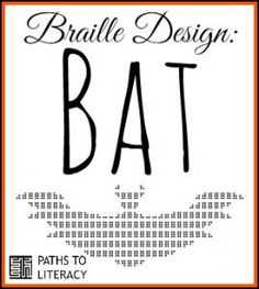 We love these braille designs!  Try this one of a bat.