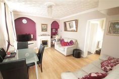 Check out this property for sale on #Zoopla settees - in light blue or navy or cream -open plan site front room