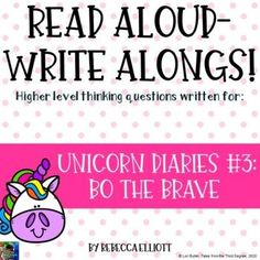 Unicorn Diaries Bo the Brave Read Aloud Write Along This Is A Book, The Book, Frindle, Unicorn Books, Ela Classroom, Classroom Ideas, Diary Book, Balanced Literacy, Literature Circles