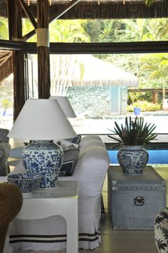 BLUE AND WHITE GET-AWAY - Mark D. Sikes: Chic People, Glamorous Places, Stylish Things