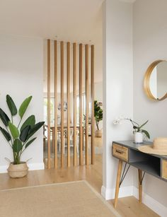Home And Living, Home And Family, Room Partition Designs, Wooden Partition Design, Room Partition Ikea, Room Partitions, Scandi Style, Home Furnishings, Building A House