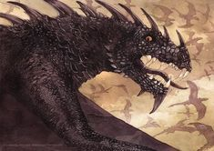 Silmarillion  === Ancalagon the Black, mightiest of the dragons of Morgoth, is unleashed during the War of Wrath.
