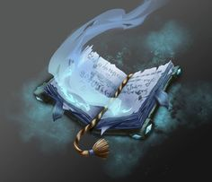 ArtStation - Game art - The Spellbook, Katrin Minko