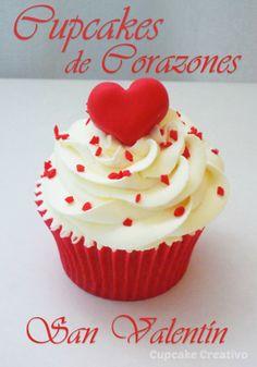 Cupcakes de Corazones San Valentín                                                                                                                                                                                 Más