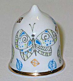 Lomonosov porcelain (Russian) helmet shape thimble #sewing #thimble