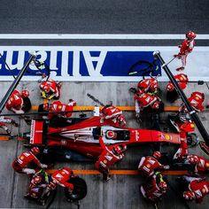 Kimi Haikkonen - Ferrari on pit stop 2016 Russian Grand Prix Russian Grand Prix, May 1, Formula 1, F1, Ferrari, Racing, Seasons, Instagram Posts, Passion