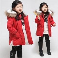 Girls Winter Coats 2016 Fashion Fur Hooded Warm Girl Solid Red Thick Cashmere Jacket Down & Parkas Children's Clothing   Price: US $19.99   http://www.bestali.com/goto/32435396058/10