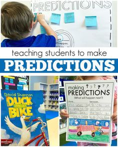 Teach students to make predictions with Duck on a Bike by David Shannon {with FREE printable!}