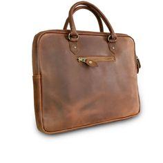 Commander maintenant. Briefcase personnalisée en cuir fait main. Inscrire mes initiales.