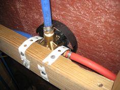 plumbing pex waters line to shower (photo)