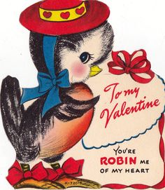 Vintage Valentines Day Card 035 by RetroVintageBazaar on Etsy