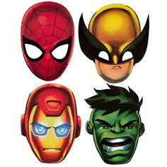 printable superhero masks - Google Search.  Make your own!