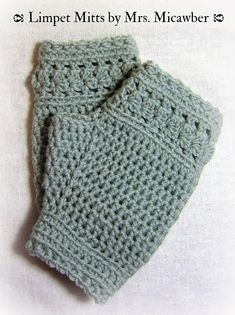 Limpet Mitts By Sue Perez - Free Crochet Pattern - (ravelry)