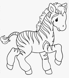 Cute Zebra Coloring Page Free Printable Coloring Pages