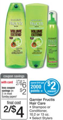 Cupones Para Nosotras: Walgreens: Garnier Fructis Productos a sólo $0.50! Comenzando el 5/4
