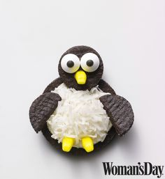 These easy to assemble Oreo Penguin Cookies from Woman's Day are a great, kid-friendly project for the holidays or the winter season.