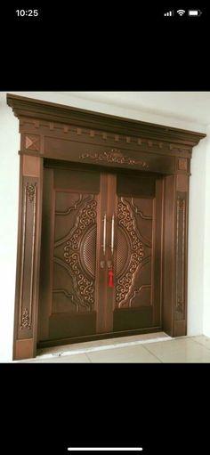 52 New Ideas Glass Door Exterior Decor Wooden Double Doors, Double Door Design, Glass Front Door, Exterior Doors With Glass, Entrance Doors, Front Door, Wooden Front Doors, Main Door Design