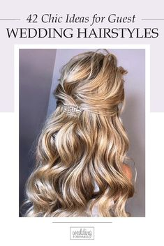 42 Chic And Easy Wedding Guest Hairstyles ♥ Find out the different guests hairstyles you can try this wedding season from our collection of chic and easy wedding guest hairstyles. #wedding #hairstyles #weddingforward #bride #weddingbeauty #WeddingGuestHairstyles #bridalhair Easy Wedding Guest Hairstyles, Wedding Updo, Wedding Beauty, Pretty Updos, Chic Hairstyles, Shoulder Length Hair, Simple Weddings, Wedding Season, Hair Hacks