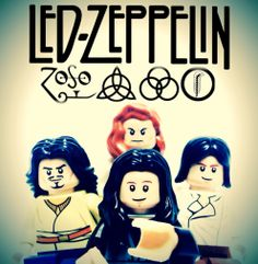 Led Zeppelin in Lego. Awesome!