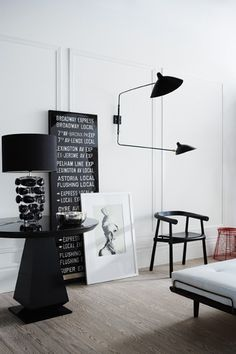 Here we showcase a a collection of perfectly minimal interior design examples for you to use as inspiration. Check out the previous post in the series: Interior Design Examples, White Interior Design, Interior Styling, Interior Photo, Black White Bedrooms, Black And White Interior, White Walls, White Art, Decoration Inspiration
