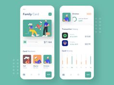 credit cards app Family Credit Card by Afterglow Credit Card App, Credit Card Design, Credit Cards, Credit Score, Chase Credit, Mobile App Ui, Mobile App Design, Design Ios, Ui Ux Design