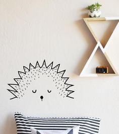 x Fully removable and reusable wall decals that will brighten and add… Baby Hedgehog, Hedgehog Care, Metallic Colors, Adhesive Vinyl, Textured Walls, Decoration, Wall Decals, Hedgehogs, Kids Room