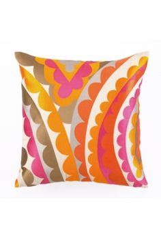 """VIVACIOUS PILLOW 20X20""""  244520PK  Trina's fun Vivacious Pillows are an easy way to add spunk to any space. Available in pink and blue hues.    20"""" x 20""""  Down-filled  Embroidered face  Removable insert  $168"""