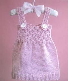 Baby Knitting Patterns Jumper Baby knit jumper dress with fun pattern. I actually know this pattern and see th… Knitting For Kids, Baby Knitting Patterns, Baby Patterns, Crochet Patterns, Knit Baby Dress, Jumper Dress, Smocks, Knit Baby Sweaters, Baby Kind