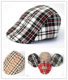2014 Spring 2014baby hat detective beret cap Child hat baseball cap baby beret caps popular plaid sun hat Boys cap Free Shipping US $5.88
