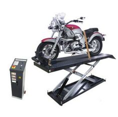 As the name implies, a motorcycle lift is used to lift the vehicle off the ground to do the maintenance and repairing work easily. Car Hoist, Motorcycle Men, Repair Shop, Atv, Man Cave, Things To Come, Classic, Vehicles, Hardware