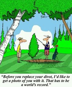 Before you replace your divot..