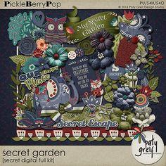 """Secret Garden """"Digital Full Kit"""" by Paty Greif"""