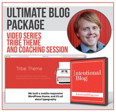 Is your blog begging for a boost? If you're looking for a chance to take your self-hosted blog to the next level, look no further! Enter now to win The Ultimate Blog Package: My premium Tribe Theme A full year of access to the Intentional Blog course A one-on-one blog coaching session with me Right now, you can't buy any of these things. But on Tuesday, we'll draw four winners. The grand prize winner will receive the Ultimate Blog Package. Three lucky runner-up winners will each receive…
