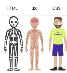 How to understand the differences between HTML, CSS and JavaScript in a minute Web Design Quotes, Web Design Tips, Web Design Tutorials, Web Design Trends, Web Design Inspiration, Web Design Company, App Design, Creative Design, Programming Humor