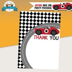 Vintage Red Racing Car Baby Shower Themed Printable DIY Invitation- Personalized Invite card DIY party printables will save you time and money while making your planning a snap! Printable Baby Shower Invitations, Baby Shower Printables, Printable Invitations, Birthday Invitations, Race Car Birthday, Race Car Party, Cars Birthday Parties, Race Car Themes, Ticket Invitation