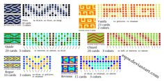 Tablet Weaving Patterns 9 by eqos.deviantart.com on @deviantART