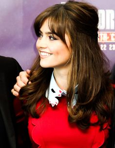My number 4 dream girl, Jenna Coleman. famous for playing Clara Oswald on Doctor Who. She has a cute face shape, a delicate smile, a cute accent, and beautiful brown eyes. <3
