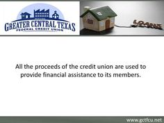 Greater Central Texas Federal Credit Union offers affordable home loans in Killeen, TX. The credit union provides loans with minimal paperwork, low interest rates and easy repayment options. To know more about the home loans offered by the credit union in Killeen, visit : http://www.gctfcu.net