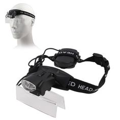 [$5.60] 2 LEDs Headband Illuminating Dual Lens Magnifier with 5 Replacement Lenses