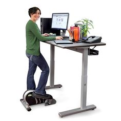 Superieur Electric Lift Standing Height Desk  Ah, That Feels Better!