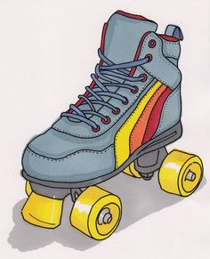 My first pair of roller skates (in the 1980s) looked like these!  Roller Skating was my favorite thing to do as a kid.