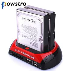 "3.5"" 2.5"" SATA IDE 2 Double Dock HDD Docking Station e-SATA Hub External Storage Enclosure Parts EU US plug"