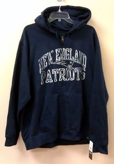 Just $29.99 & FREE Priority Mail Shipping!!!  NEW/NWT N.E. Patriots Hoodie Sweatshirt BLUE NFL *FREE PRIORITY SHIP* Pats #NFLTeamApparel #NewEnglandPatriots
