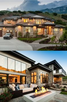 Plan Spacious 4 Bedroom Modern Home Plan With Lower Level Expansion Stunning Mordern Home Plan By Ad Future House Goals Plan Modern House Plans, Modern House Design, Big Modern Houses, Huge Houses, Modern Mansion, Cool Houses, Glass House Design, Modern Family House, Crazy Houses