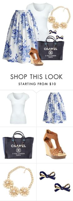 """kate and jane"" by shoesclothesbagsaddict ❤ liked on Polyvore featuring Jane Norman, Chicwish, Chanel, Bucco and Kate Spade"