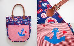 Freebook summer bag - Kostenloses Schnittmuster Sommerbeutel